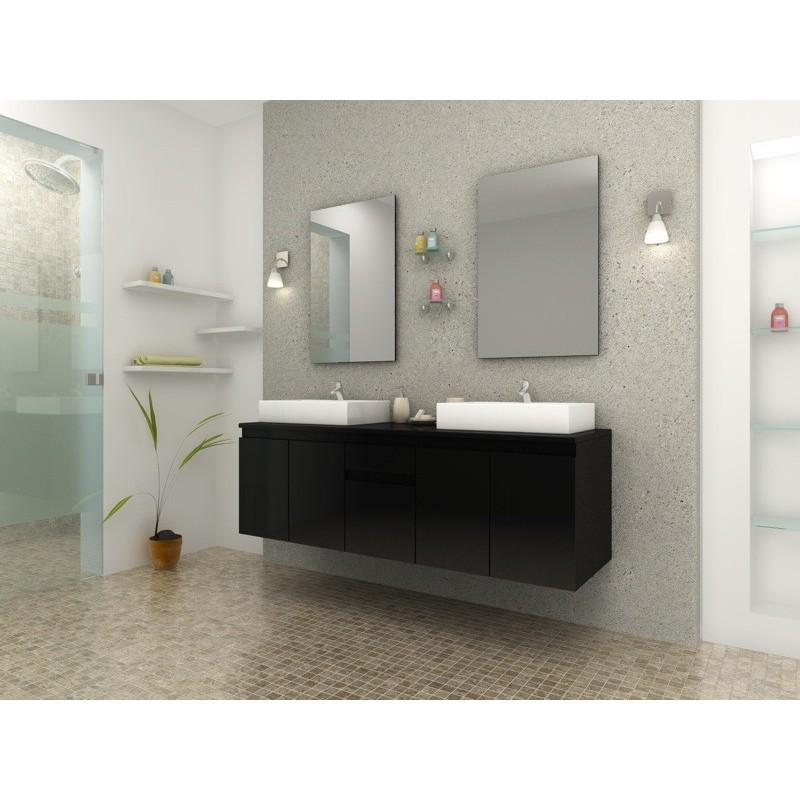 Ensemble complet meuble de salle de bain double vasque - Meuble salle de bain romantique ...