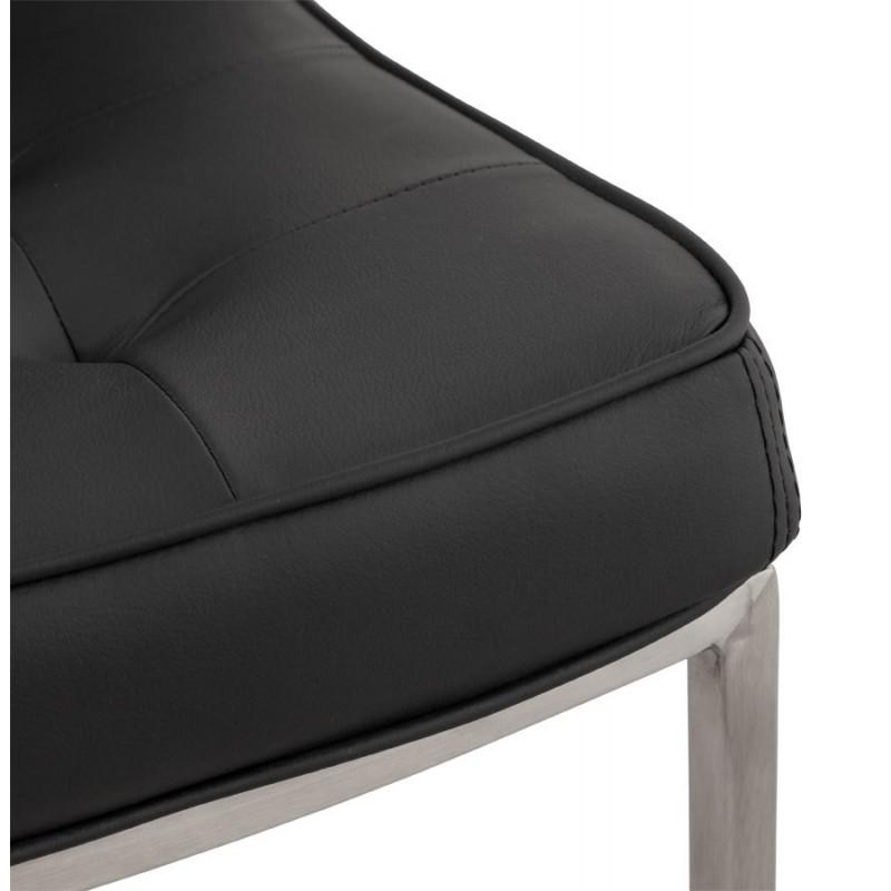 Sloop chaise capitonn e en simili cuir noir - Chaise simili cuir noir ...