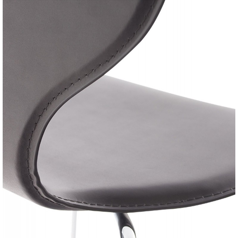 Salta chaise en simili cuir noir - Chaise simili cuir noir ...