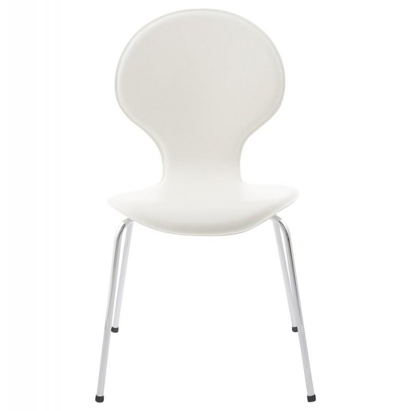 Salta chaise en simili cuir blanc - Chaise simili cuir blanc ...