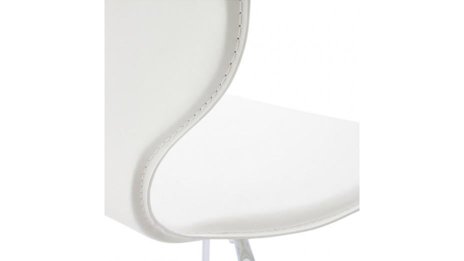 Salta chaise en simili cuir blanc - Chaise en cuir blanc ...