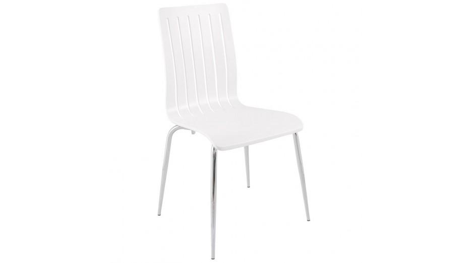 Chaise En Bois Blanc : Ink – Chaise design en bois couleur blanc