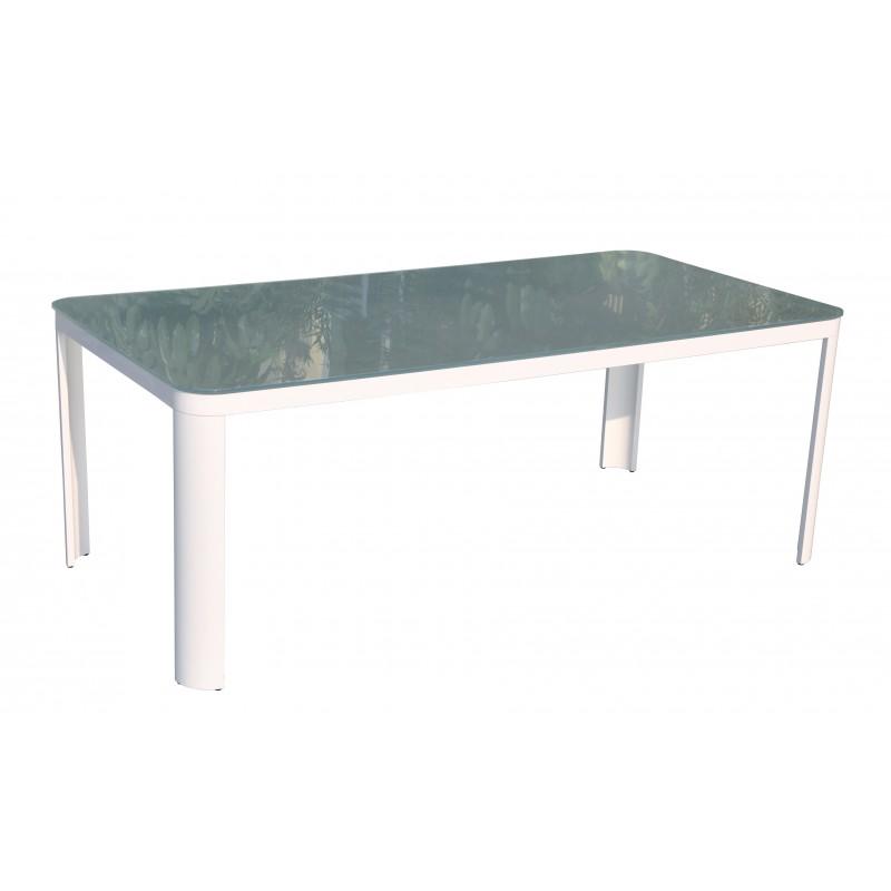 Table de jardin design en aluminium 10 personnes avec chaises - Table et chaises jardin ...