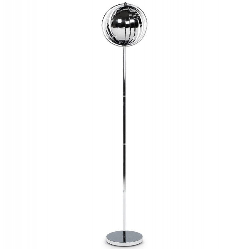 nalu lampadaire design lamelles chrome. Black Bedroom Furniture Sets. Home Design Ideas