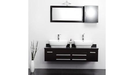 Meuble De Salle De Bain Noir Laqué: Meuble salle de bain simple ...