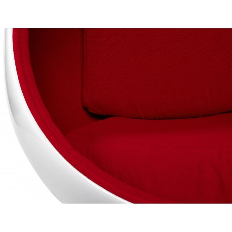 ei fauteuil oeuf blanc et rouge. Black Bedroom Furniture Sets. Home Design Ideas