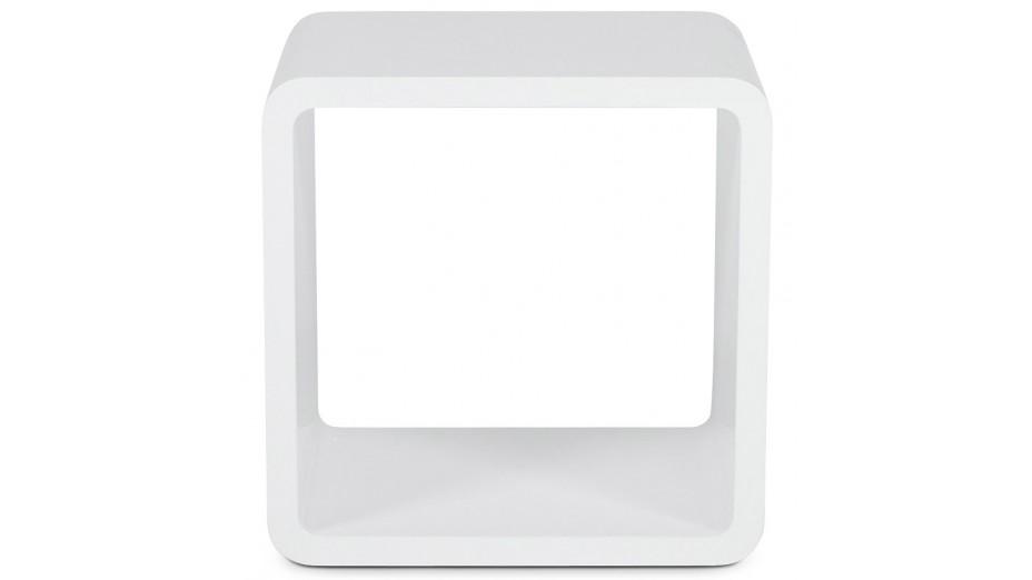 Cub cube de rangement carr blanc empilable - Cube de rangement blanc laque ...