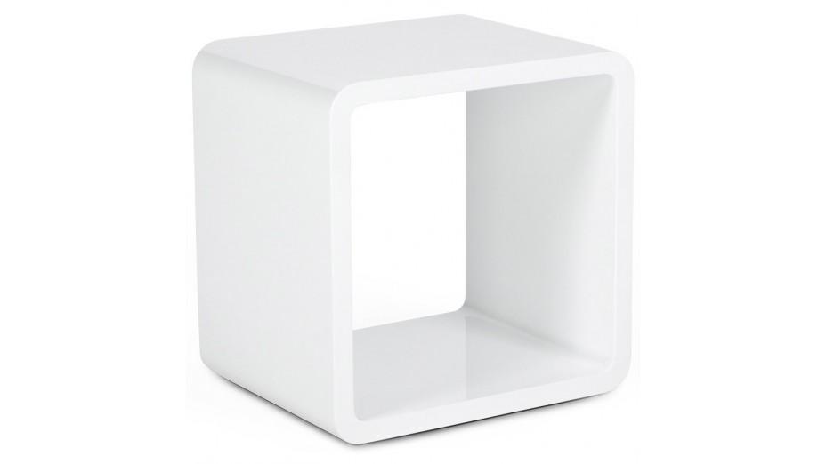 Cub cube de rangement carr blanc empilable for Cube de rangement salle de bain