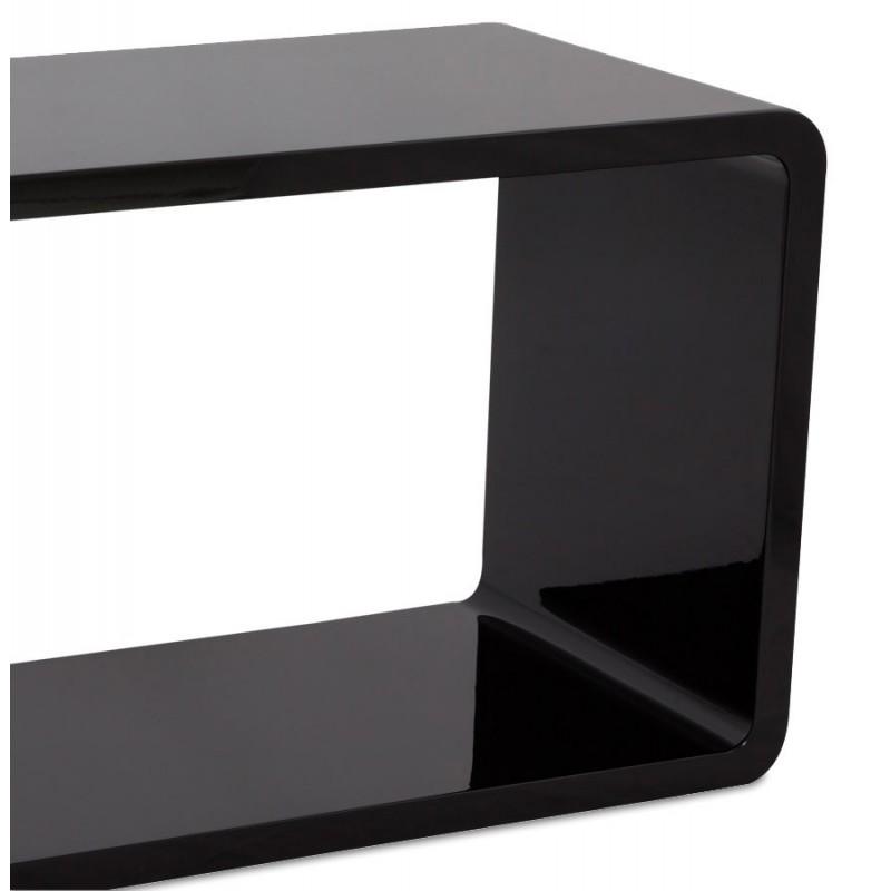 Rek cube de rangement recangulaire en bois laqu noir - Cubes de rangement en bois ...