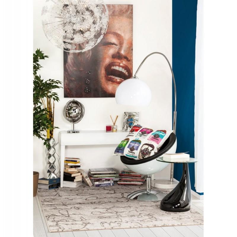 blump bout de canap pied laqu noir. Black Bedroom Furniture Sets. Home Design Ideas