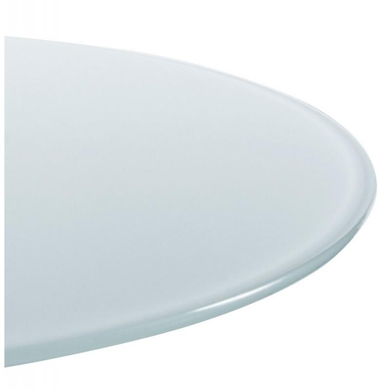 Nax mange debout plateau verre blanc - Table haute plateau verre ...