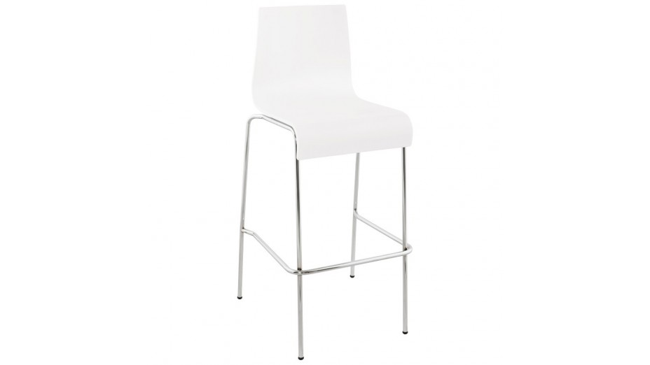 mars tabouret de bar assise bois blanc. Black Bedroom Furniture Sets. Home Design Ideas
