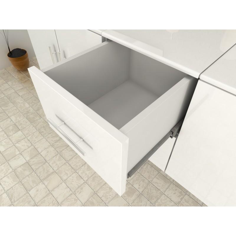 Meuble de salle de bain design blanc double vasque avec - Meuble salle de bain romantique ...