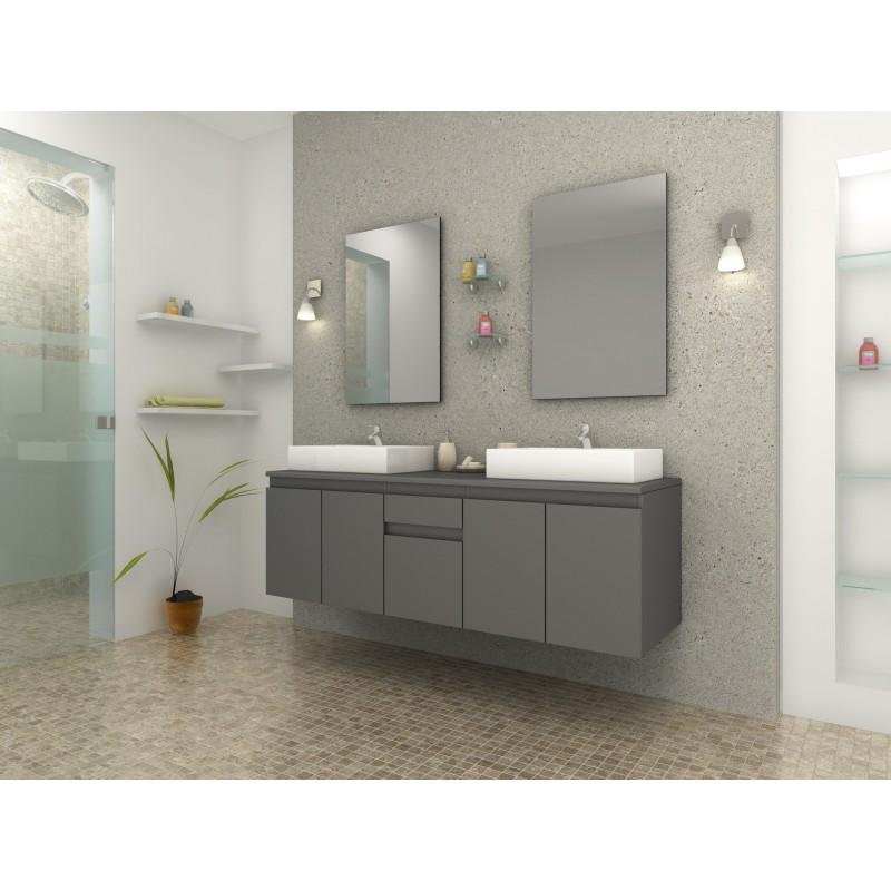 Cina gris mat ensemble de salle de bain gris mat for Ensemble salle de bain gris
