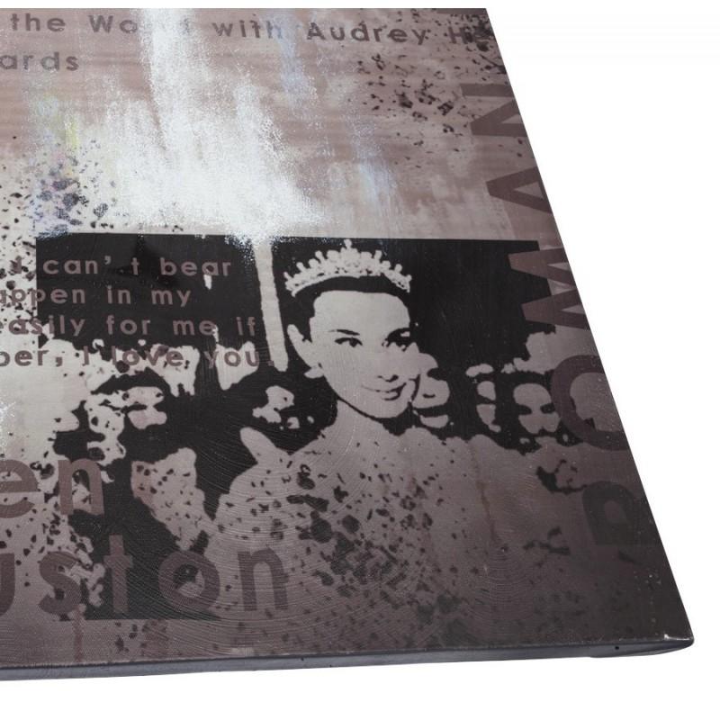 Cin tableau toile imprim e audrey hepburn 120 x 90 cm - Tableau toile imprimee ...