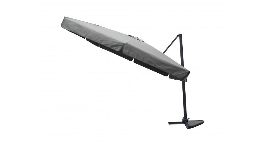 Toile parasol 3x3 taupe avec flap for Recambio tela parasol 3x3