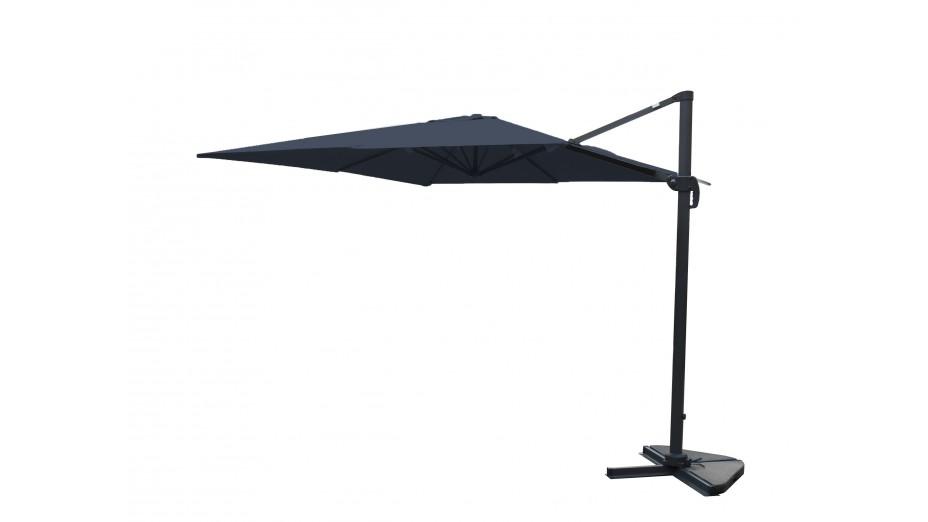Toile parasol 3x4 grise for Toile pour parasol deporte