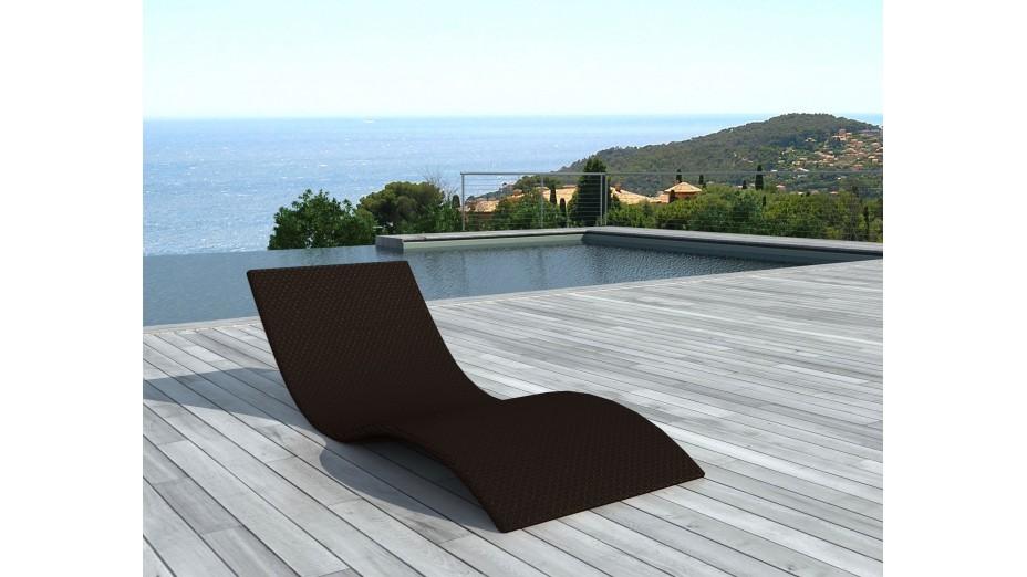 bain de soleil design en r sine farniente chocolat. Black Bedroom Furniture Sets. Home Design Ideas