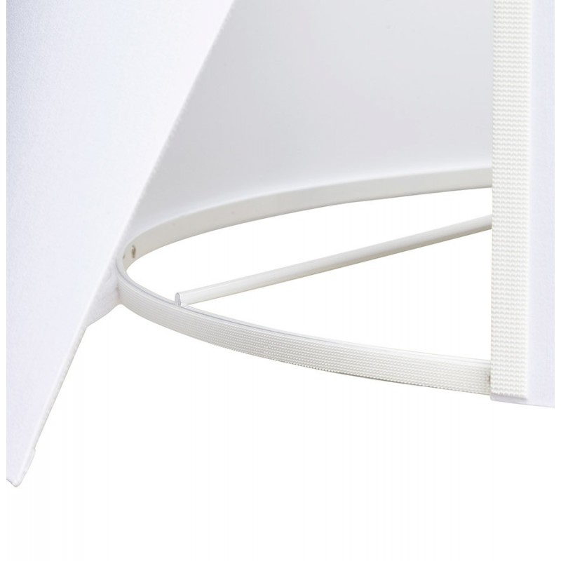 modena lampadaire tr pied abat jour blanc pied blanc. Black Bedroom Furniture Sets. Home Design Ideas