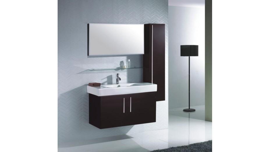 Colonne rangement salle de bain weng laqu hauteur 130 cm - Colonne salle de bain suspendu ...