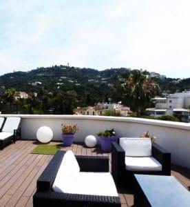 Salon de jardin en résine tressée - Terrasse Cannes