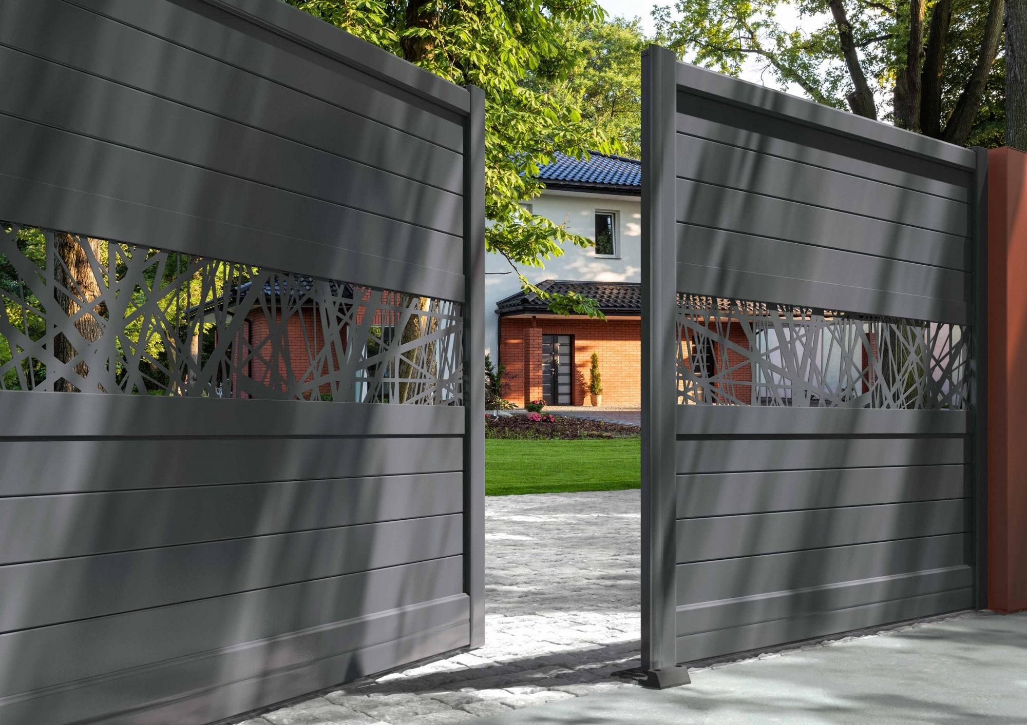 donnez du cachet votre maison gr ce un portail en. Black Bedroom Furniture Sets. Home Design Ideas