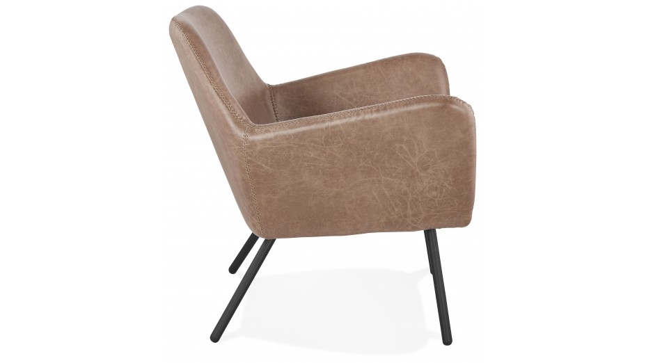 Fauteuil lounge Brun - MISTER
