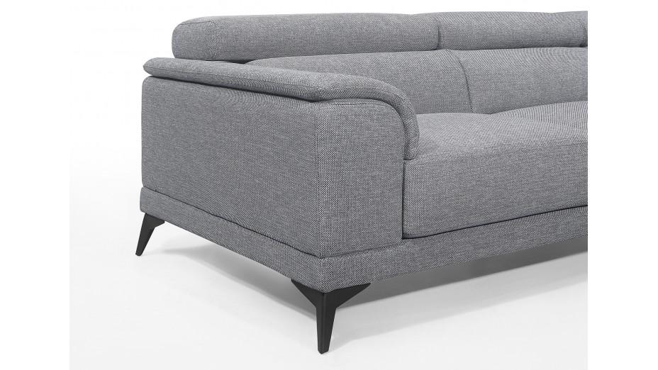 Canapé d'angle en tissu avec tétières - Calle