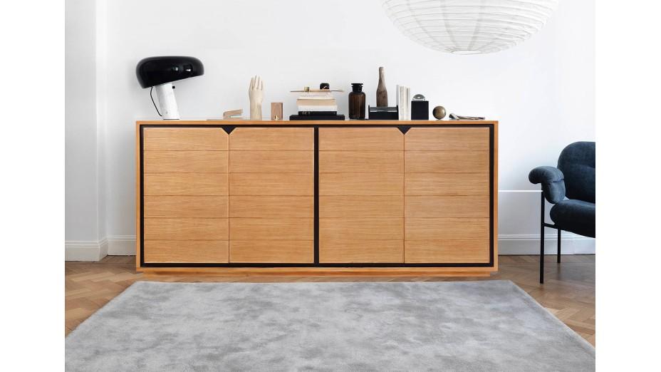 Buffet design en teck massif 4 portes Dynamic 180 cm