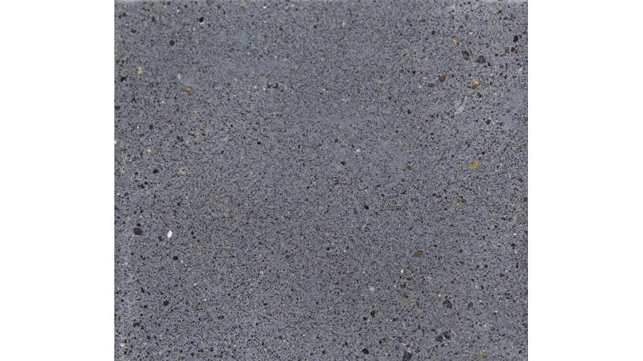 Banc design IRON gris pieds teck massif