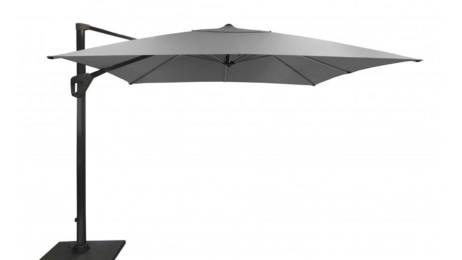 Parasol déporté 300 x 400 cm toile Hotsun gris clair - SOLI