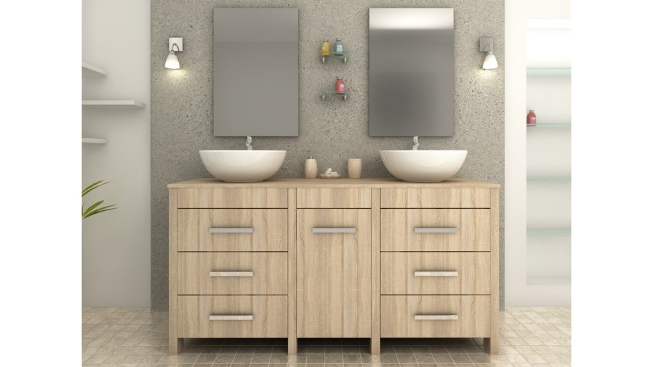 meuble salle de bain double vasque original id e inspirante pour la conception de. Black Bedroom Furniture Sets. Home Design Ideas