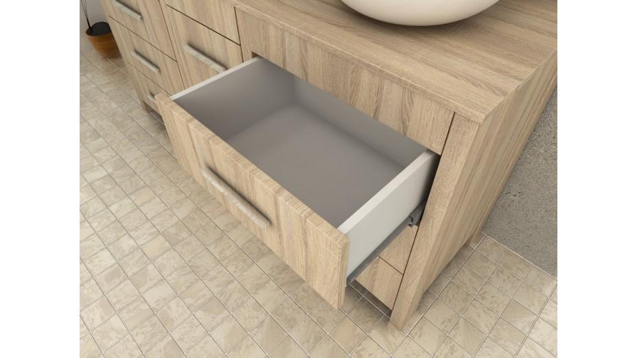 meuble salle de bain chene brut