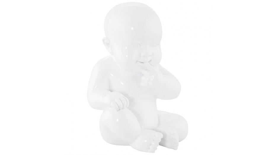 BB - Statue polyrésine blanche