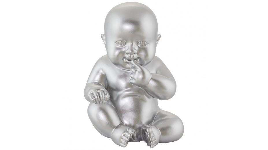 BB - Statue polyrésine argent