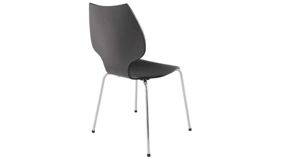 Dybo chaise en bois noir for Chaise bois noir