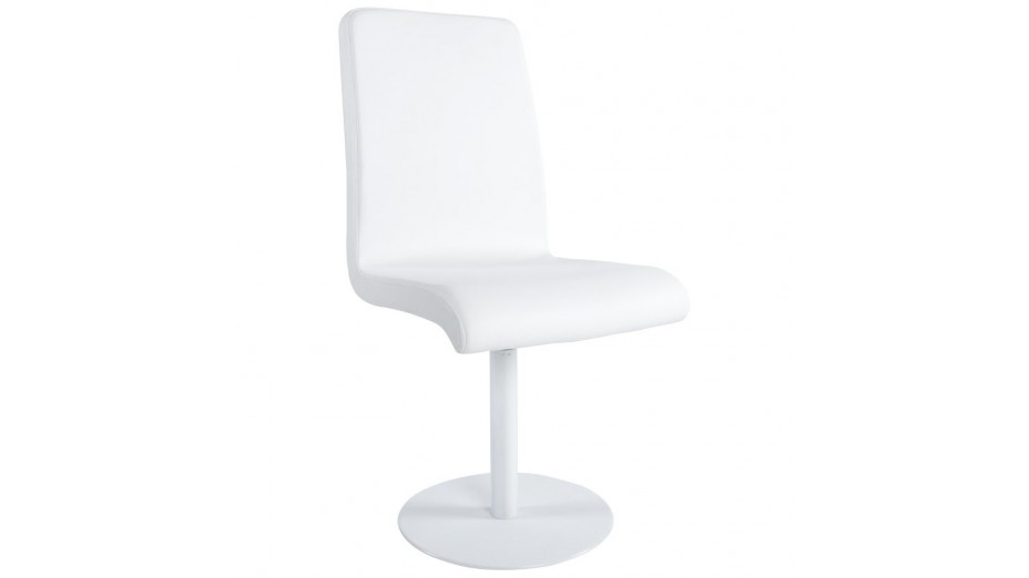 Chaise simili cuir blanc maison design for Chaise en cuir blanc