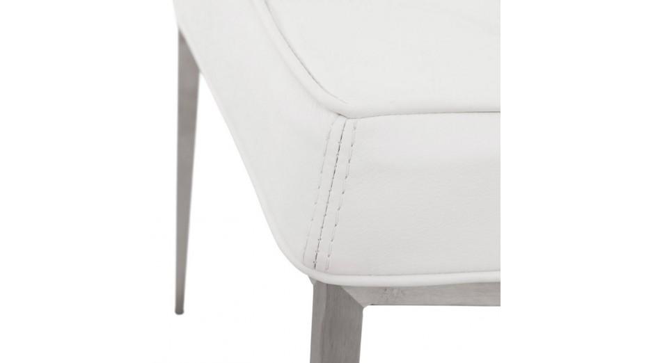 Chaise simili cuir blanc maison design for Chaise en simili cuir