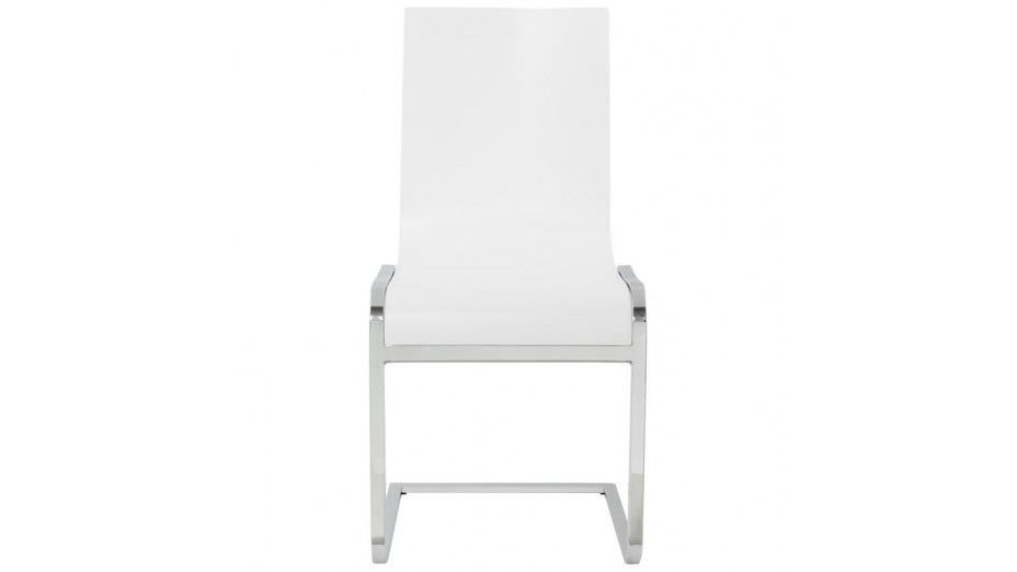ck chaise en bois blanc moderne pi tement cantilever. Black Bedroom Furniture Sets. Home Design Ideas