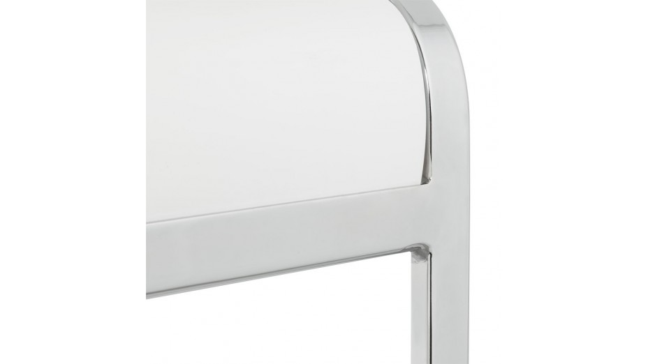 Ck chaise en bois blanc moderne pi tement cantilever - Chaise en bois moderne ...