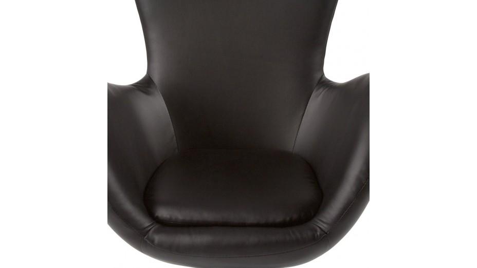 Mudos fauteuil moderne simili cuir noir - Fauteuil cuir moderne ...