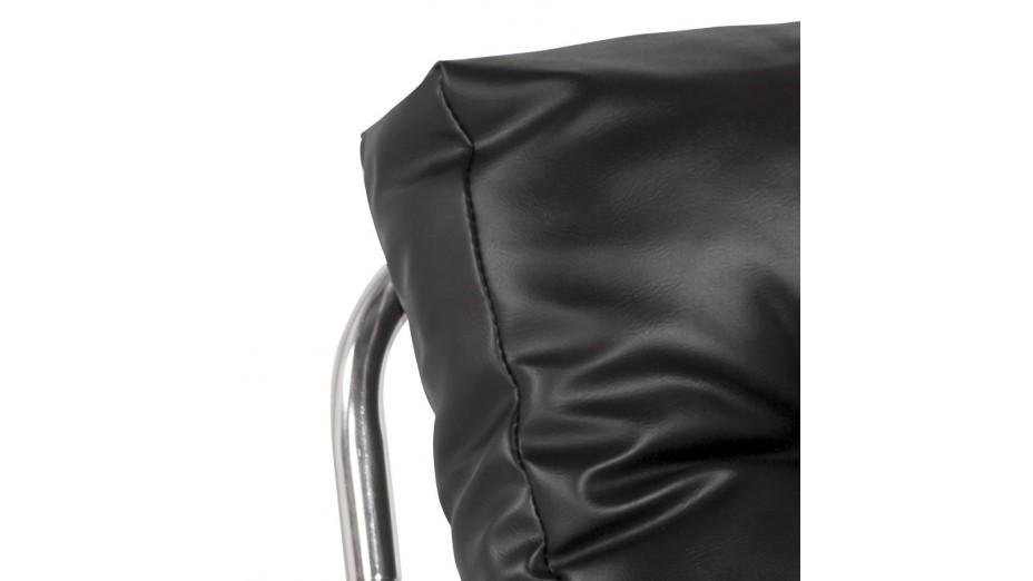 flot fauteuil en simili cuir noir. Black Bedroom Furniture Sets. Home Design Ideas