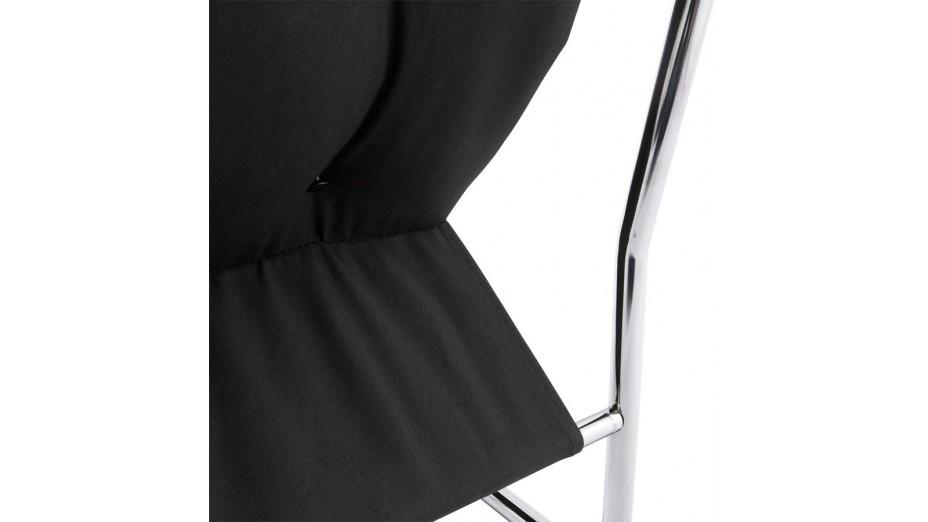 FLOT - Fauteuil en simili cuir noir