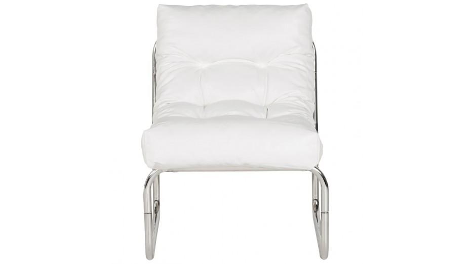 fauteuil en cuir blanc maison design. Black Bedroom Furniture Sets. Home Design Ideas