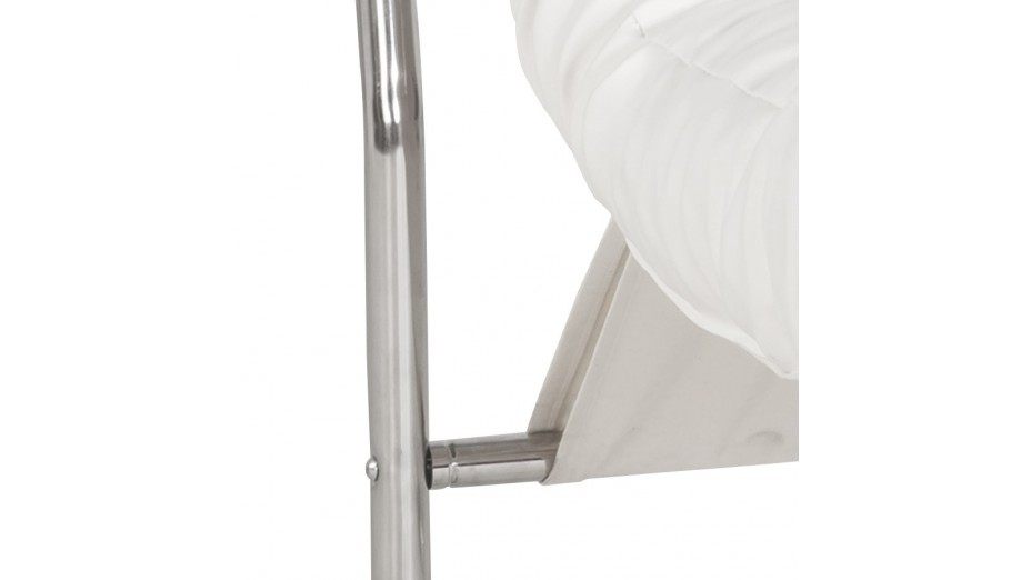 FLOT - Fauteuil en simili cuir blanc