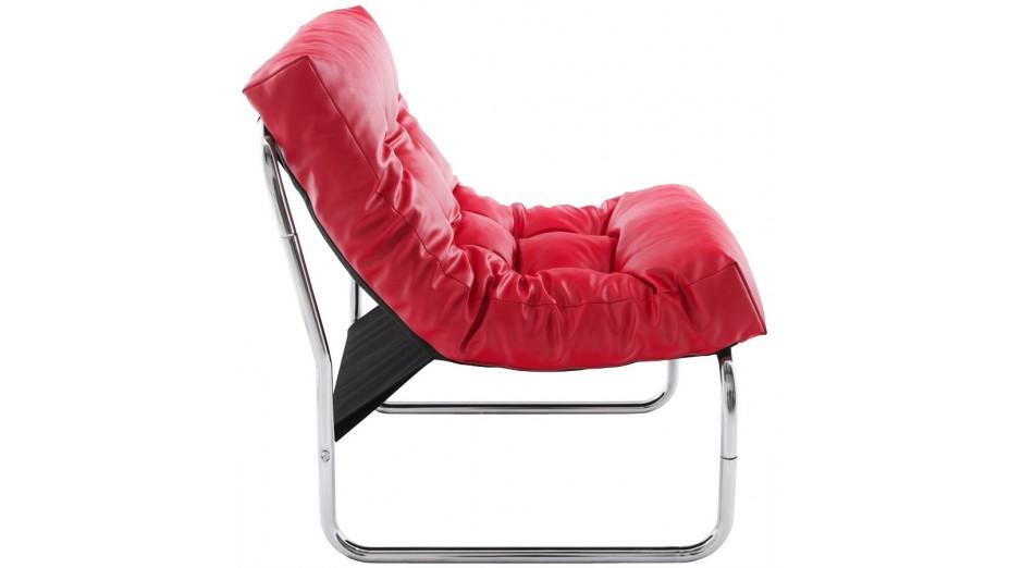 Flot fauteuil en simili cuir rouge - Fauteuil en cuir rouge ...