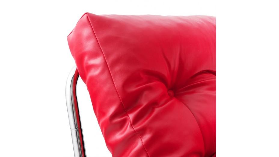 FLOT - Fauteuil en simili cuir rouge