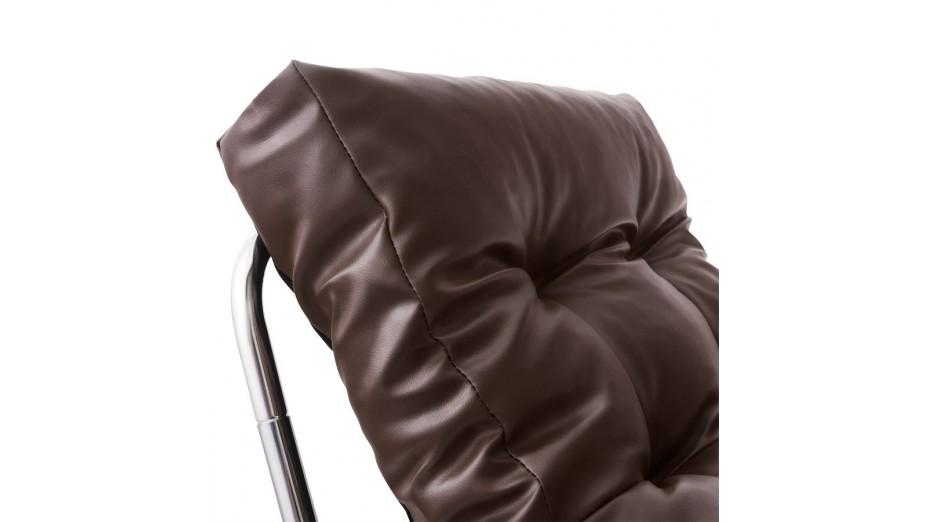 FOT - Fauteuil en simili cuir chocolat