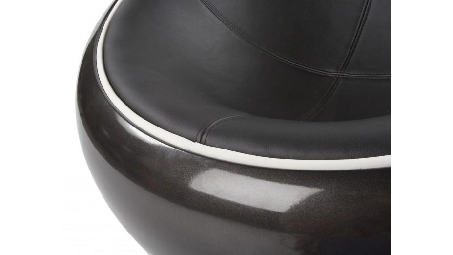 KKO - Fauteuil boule ABS noir