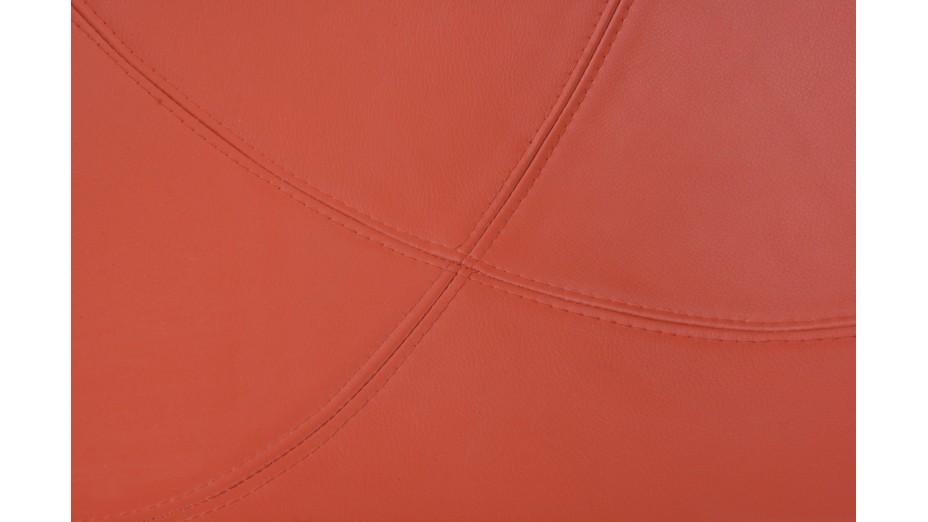 KKO - Fauteuil boule ABS blanc et rouge